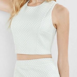 Express two piece white skirt and top set